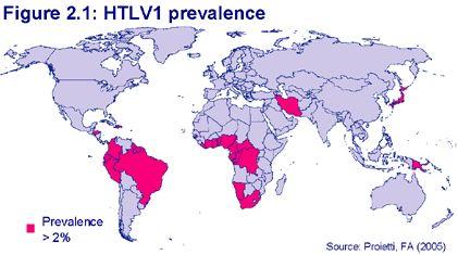 HTLV1 prevalence 2005